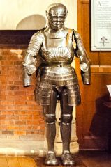Coart of historic armour in the Hall