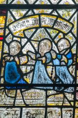 Medieval glass in the north west chapel