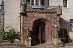 Delgatie Castle, Doorway porch