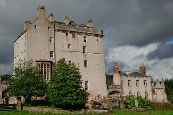 Delgatie Castle photo, View from the grounds