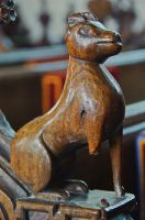 Carving of a hound