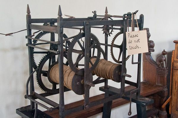 Dennington, St Mary's Church photo, Ancient clock mechanism