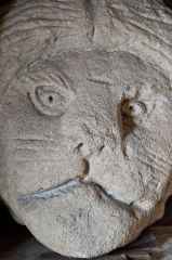 Denny Abbey and Farmland Museum, Carved corbel head of a cat