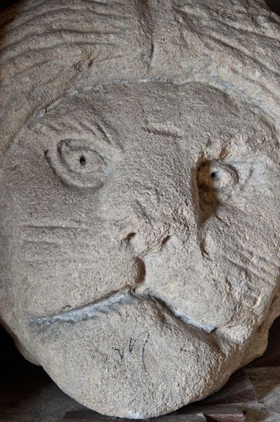 Denny Abbey and Farmland Museum photo, Carved corbel head of a cat