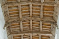 Denston, St Nicholas Church, Nave timber roof