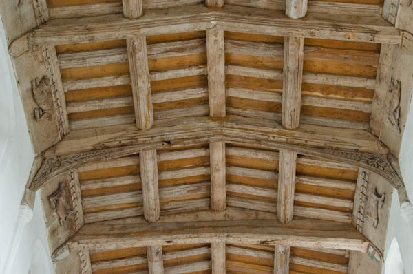 Denston, St Nicholas Church photo, Nave timber roof