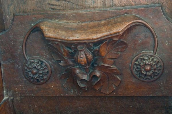 Denston, St Nicholas Church photo, Poppyhead misericord