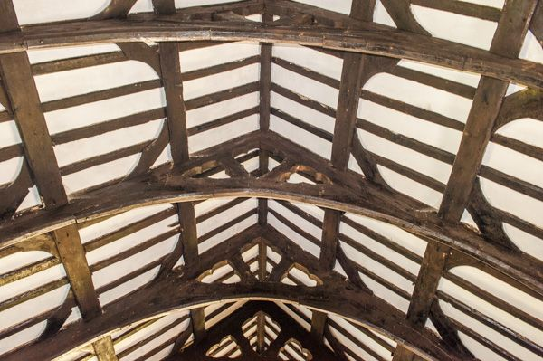 Derwen, St Mary's Church photo, The late medieval roof