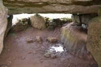 Lligwy Burial Chamber, Interior of the chamber