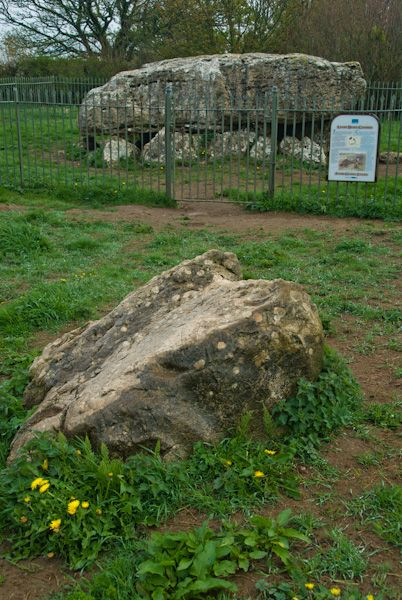 Lligwy Burial Chamber photo, Outlier stone