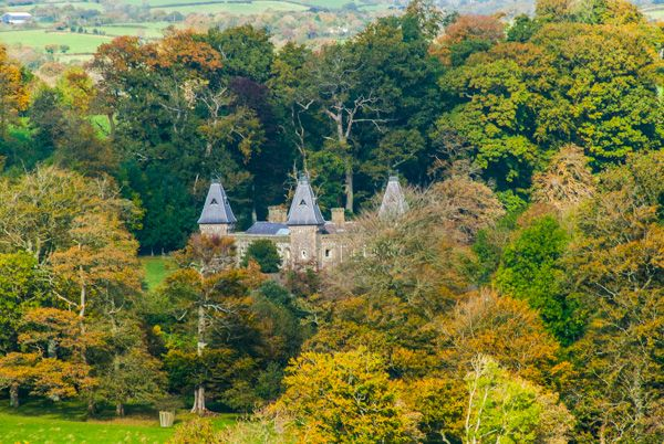 Dinefwr Park photo, Newton House from Dinefwr Castle