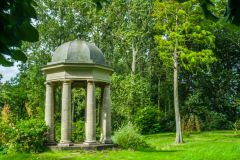 Doddington Hall, A neoclassical temple in the woodland garden