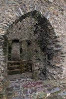 Dolbadarn Castle, Keep entrance door