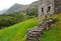 Dolbadarn Castle, Keep foundation walls