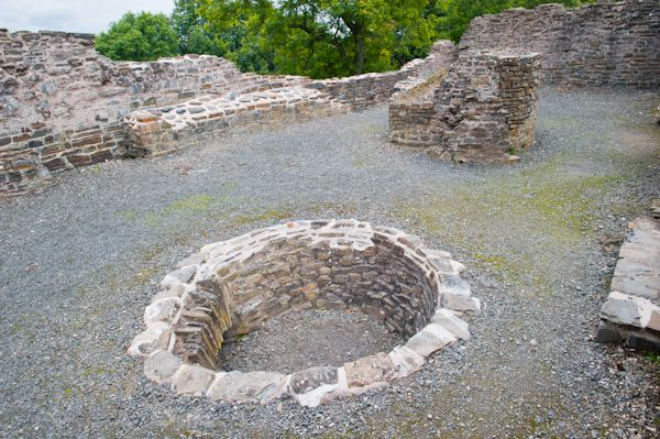 Dolforwyn Castle photo, The corn-drying kiln