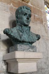 Bust of Captain Flinders in St Mary's church (c) J Hannan-Briggs
