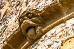 Donnington Castle, Grotesque carving on the gatehouse