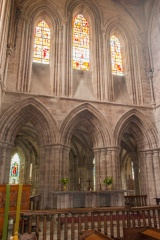 High altar and east triforium windows