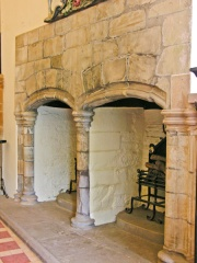Double fireplace in the Lord's Hall