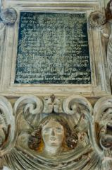Dowdeswell, St Michael's Church, Elizabeth Rogers memorial (1670)