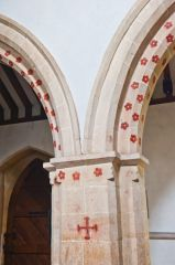 Down Ampney, All Saints Church, Nave arcade paintings