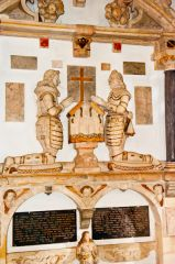 Down Ampney, All Saints Church, Hungerford monument, 1637