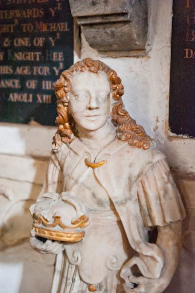 Down Ampney, All Saints Church photo, Hungerford monument carving