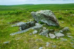Drizzlecombe Stone Rows, A cist, or stone burial chamber