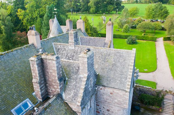 Drum Castle photo, View from the tower roof