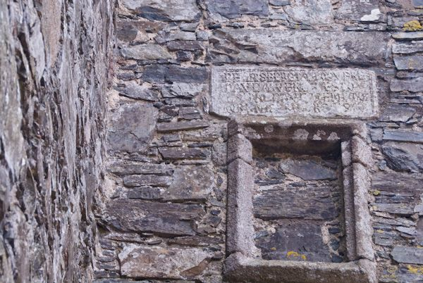 Drumcoltran Tower photo, Inscribed Lintel