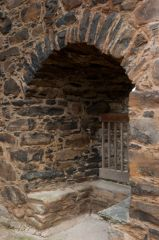 Drumin Castle, Restored doorway