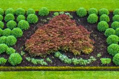 Drumlanrig Castle, The Douglas heart symbol in the garden