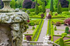 Drummond Castle Gardens, The view from the terrace garden