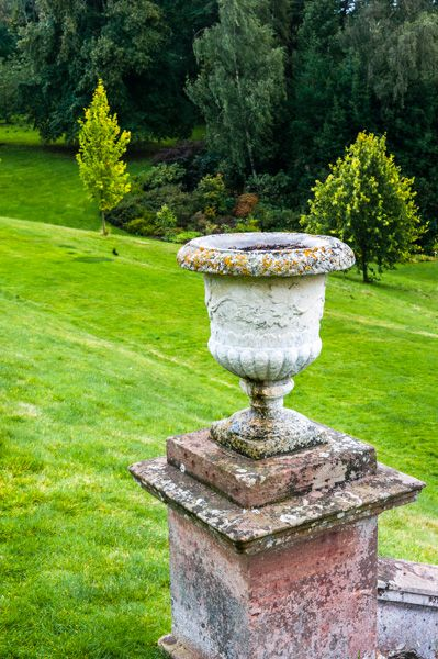 Dudmaston Hall photo, A classical urn in the grounds
