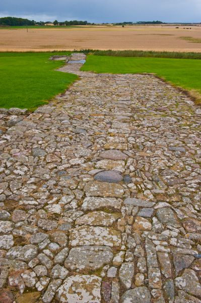 Duffus Castle photo, Cobbled path