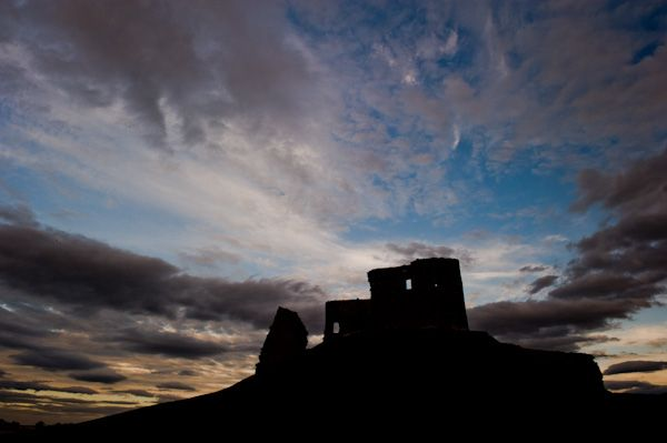 Duffus Castle photo, Sunset at Duffus Castle