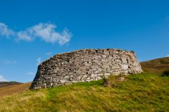 Dun Dornaigil Broch, View from below