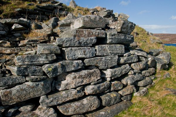 Dun an Sticir photo, Drystone exterior wall