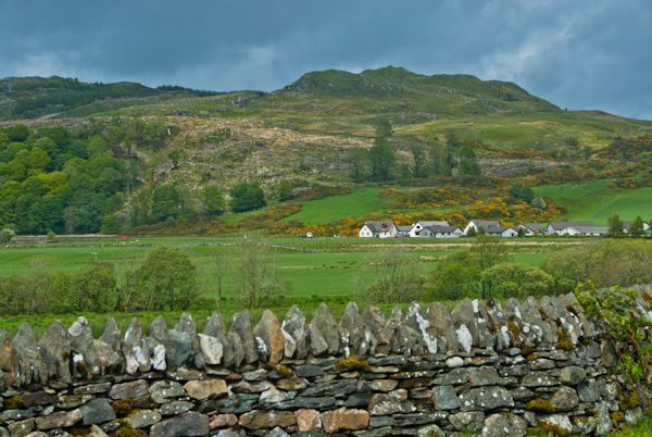 Dunadd Fort photo, View from the road through Kilmartin Glen