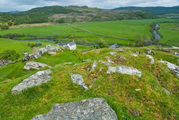 Dunadd Fort photo, View from the top of Dunadd