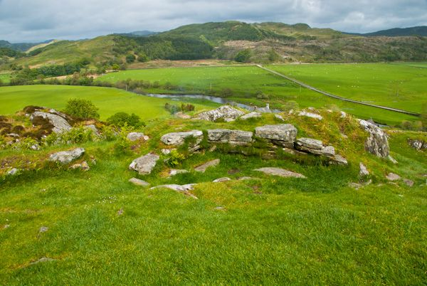 Dunadd Fort photo, Remains within the fort