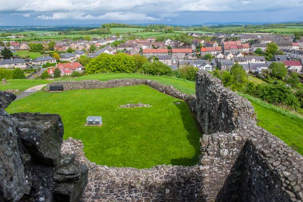 Dundonald Castle photo, The view from the upper hall stair