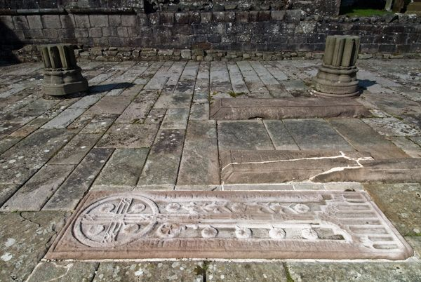 Dundrennan Abbey photo, Medieval grave slabs