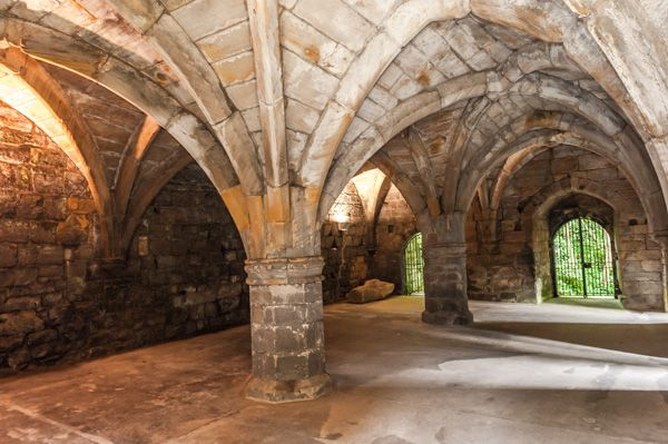 Dunfermline Abbey and Palace photo, The vaulted cellars