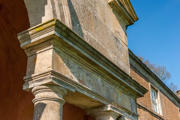 The Dunmore Pineapple photo, Neo-classical detail of the portico