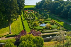 The formal garden from the house