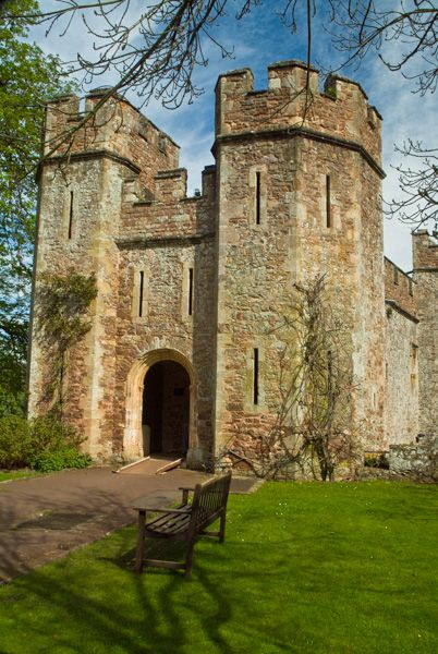 Dunster Castle photo, The medieval gateway