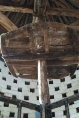 Inside the medieval dovecote
