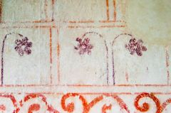 Medieval wall painting detail