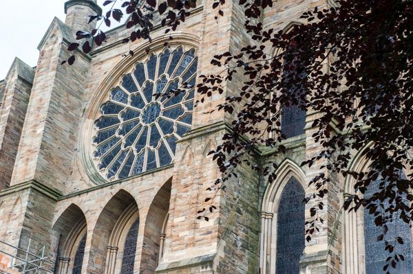 Durham Cathedral photo, The east rose window
